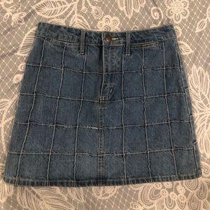 Denim high waist mini skirt
